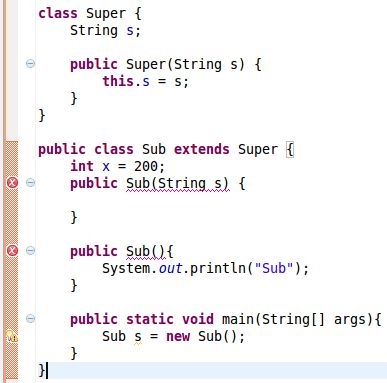 Constructors of Sub and Super Classes in Java?