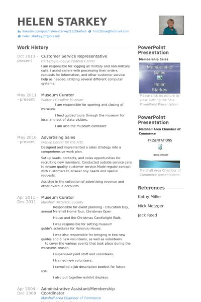 Customer Service Representative Resume samples - VisualCV resume ...