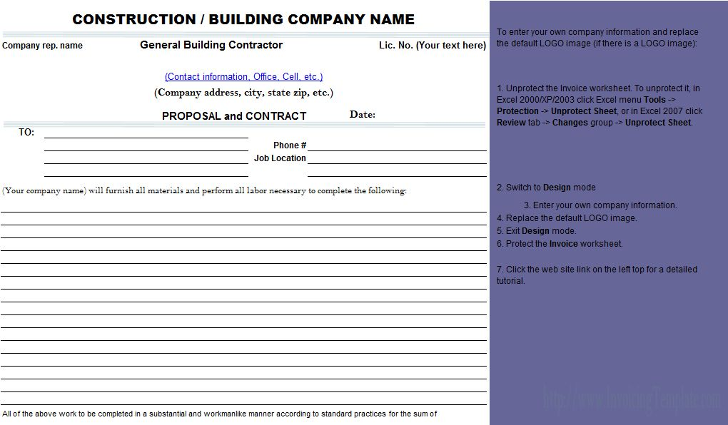 10 Best Images of Free Construction Bid Proposal Form Template ...