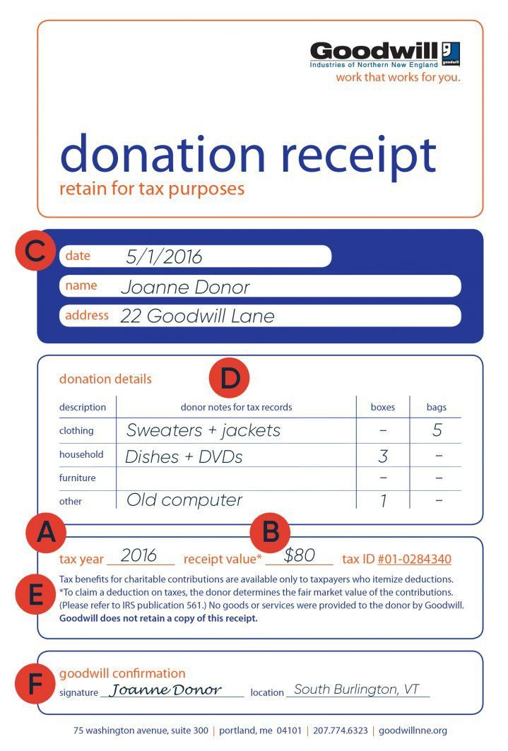 How to fill out a Goodwill Donation Tax Receipt | Goodwill NNE