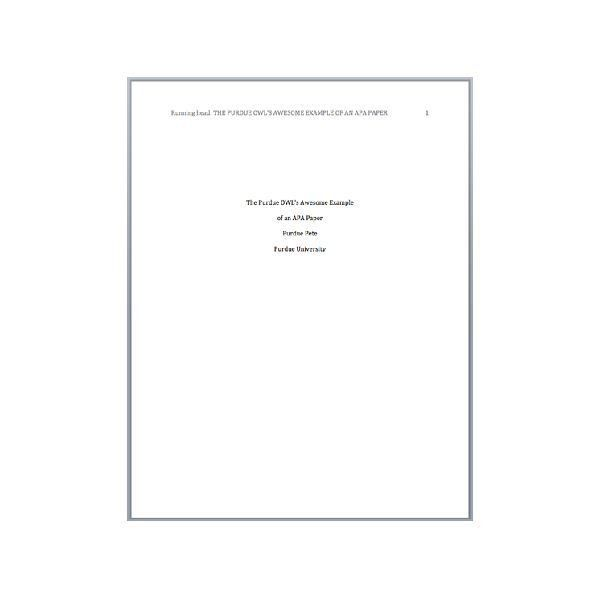 Apa Cover Page Template. Apa Cover Letter Example Apa Cover Letter ...