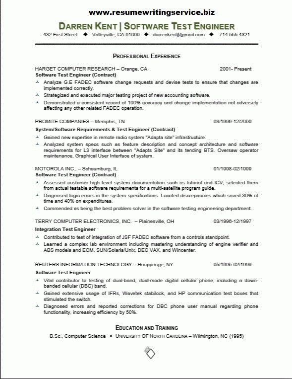 Junior Test Engineer Sample Resume 5 Awesome Collection Of Junior ...