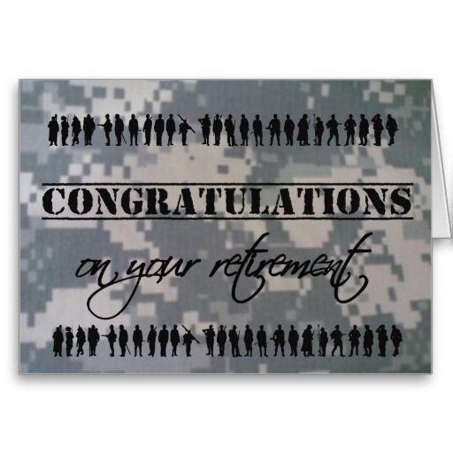 Congratulations Retirement Military Service Card   Military ...