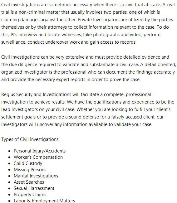 Private Investigators Gainesville