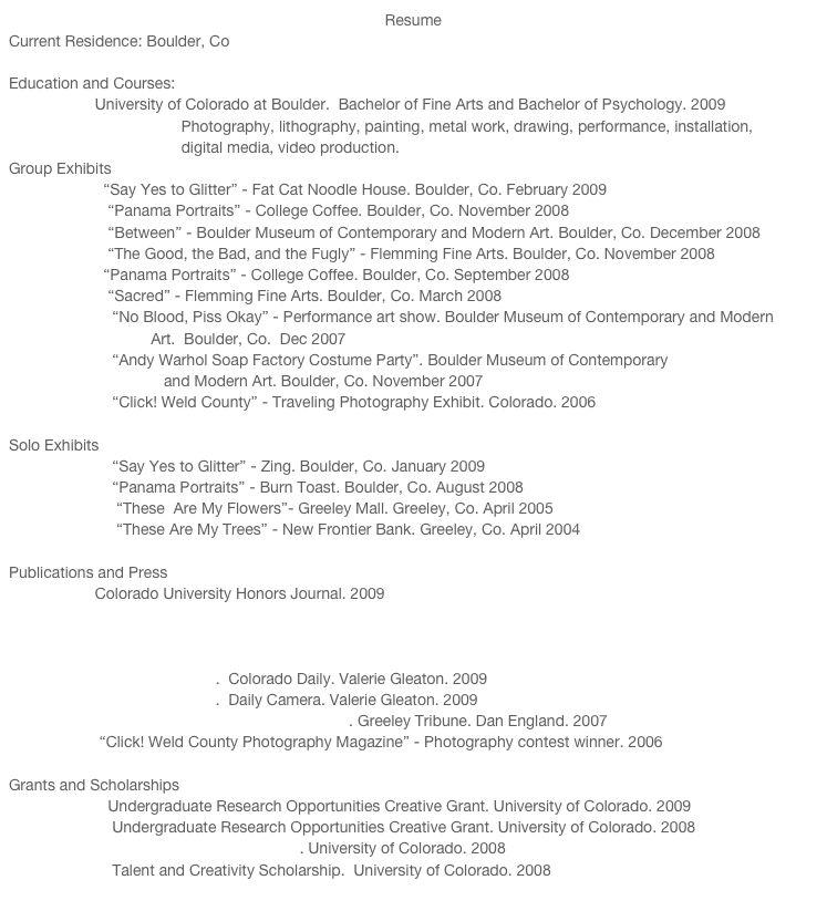 artist resume sample fine artist resume sample artist resume ...