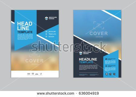 Templates Presentation Annual Report Flyer Leaflet Stock Vector ...