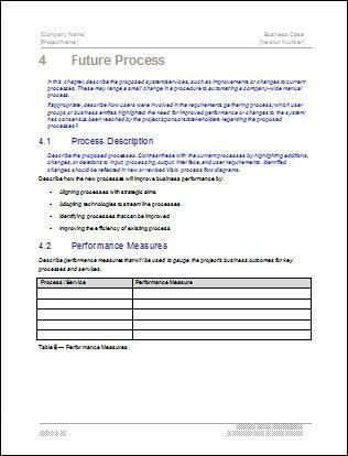 Business Case Templates (MS Word)