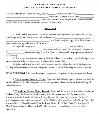Money Agreement Template - 8+Free PDF Documents Download | Free ...