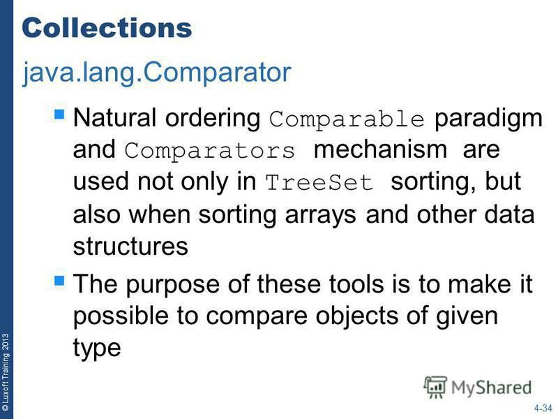 "Презентация на тему: ""© Luxoft Training 2013 Java Collections API ..."