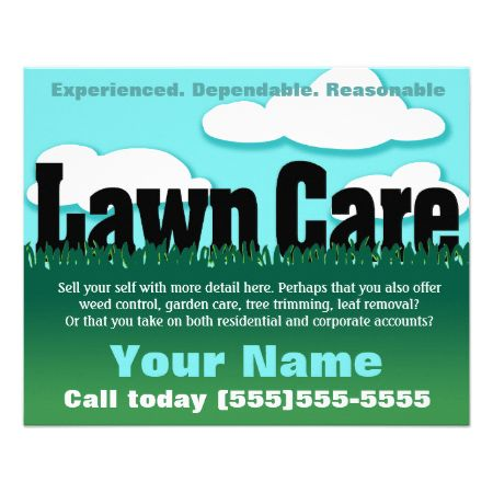 Lawn Care. Landscaping. Mowing. Marketing flyer   Flyers ...