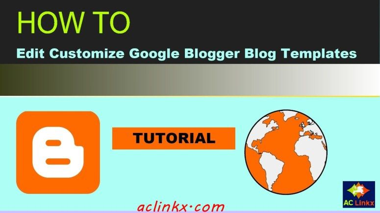 How to Edit your Blogger Template HTML, Set Your Own Social Links ...