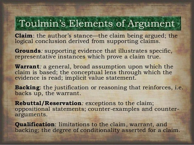 Toulmin Model & Syllogisms