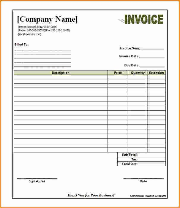 12+ commercial invoice template | Invoice Template Download