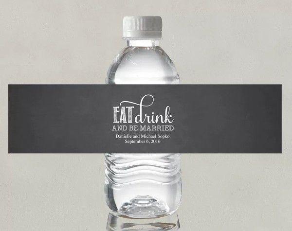 8+ Wedding Water Bottle Label Templates - Free Printable PSD, Word ...