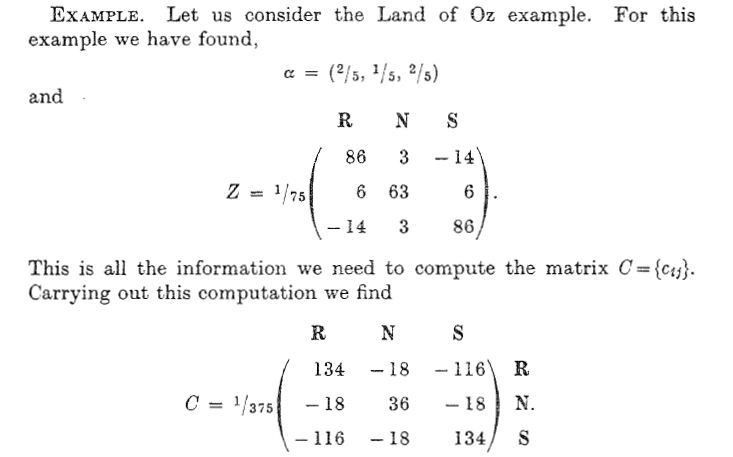 probability theory - Covariance of states of a finite Markov chain ...