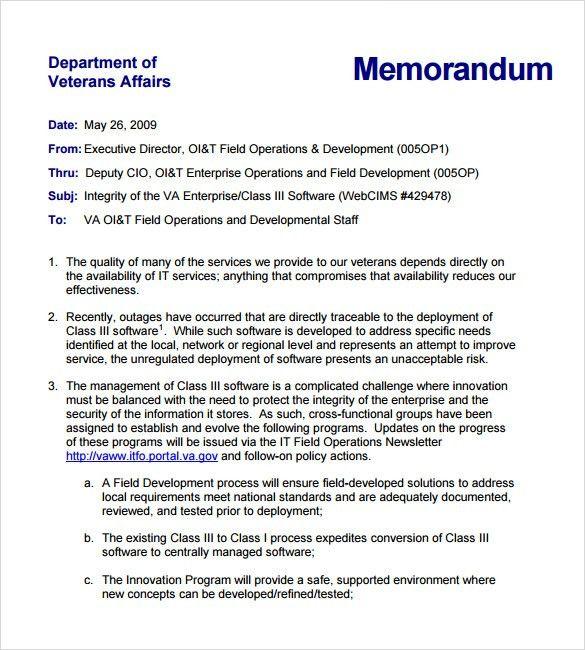 Sample Internal Memo - 7+ Documents In PDF, Word