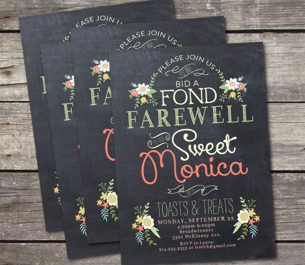 Chalk Board Invitation Template. Printed Wedding Invitation ...