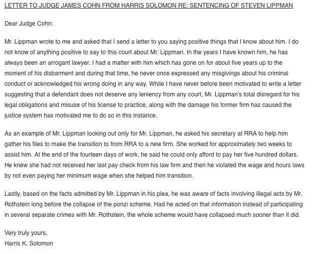 Steven Lippman Letter Of Recommendation - Business Insider