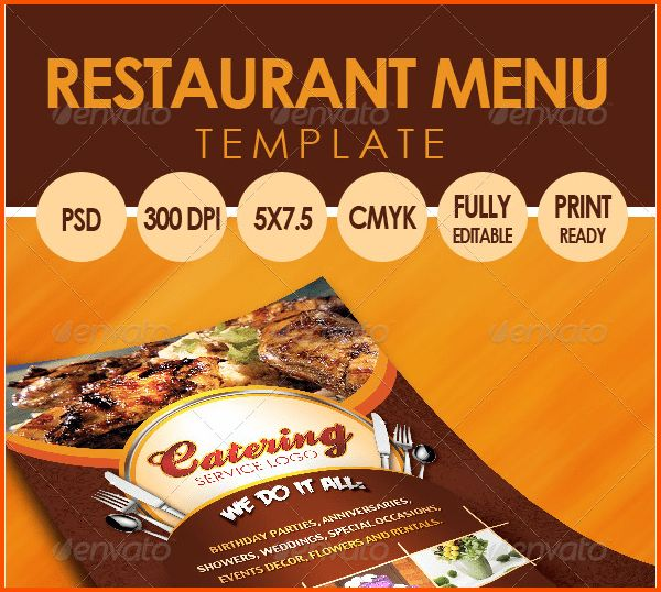 14+ Catering Menu Template | Survey Template Words