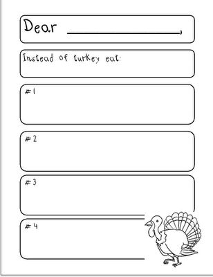 don't eat turkey persuasive letter | School Stuff- Writing ...
