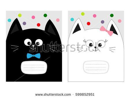 Notebook Cover Composition Book Template Baby Stock Vector ...