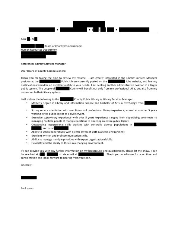 open cover letters