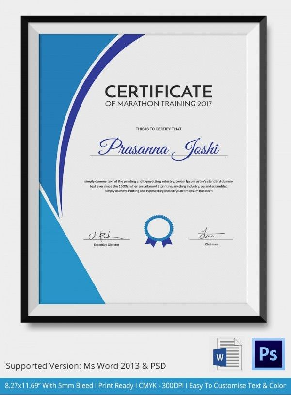 Sample Training Certificate. Basic Computer Training Course ...