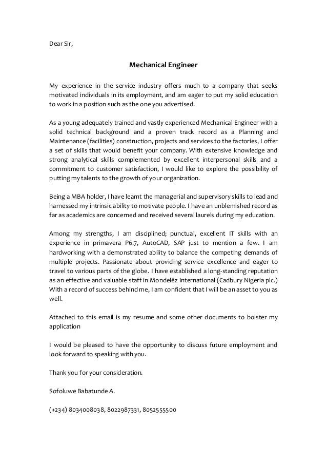 service industry cover letter service cover letter example