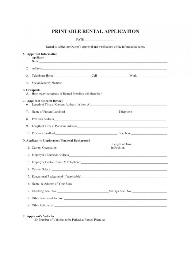 Free Blank Lease Agreement Forms Formal Essay Definition Pet Cosi ...