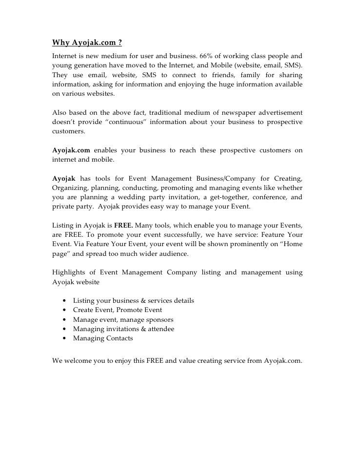 Proposal Report For Venue Owner & Event Management Company