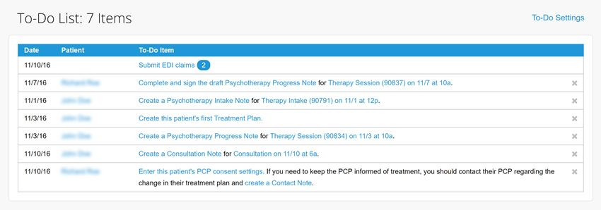 psychotherapy progress notes examples