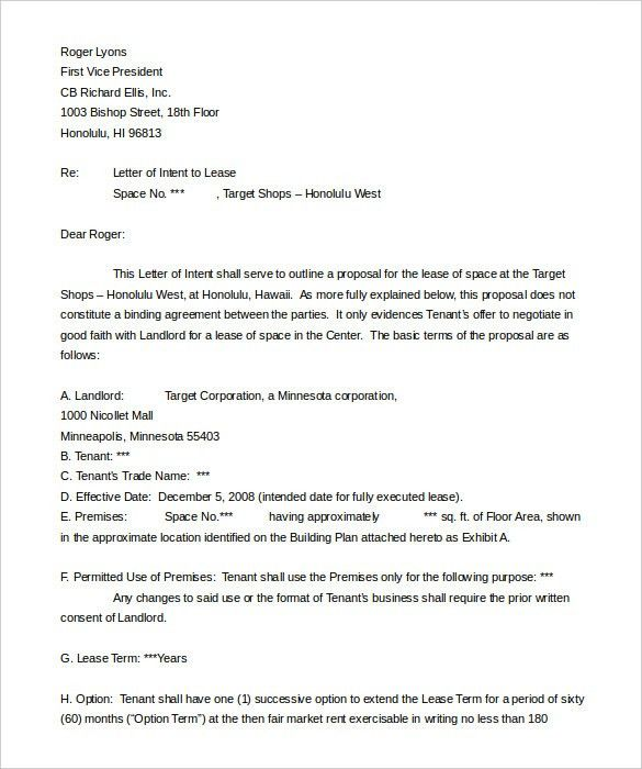 Real Estate Letter of Intent – 10+ Free Word, PDF Format Download ...