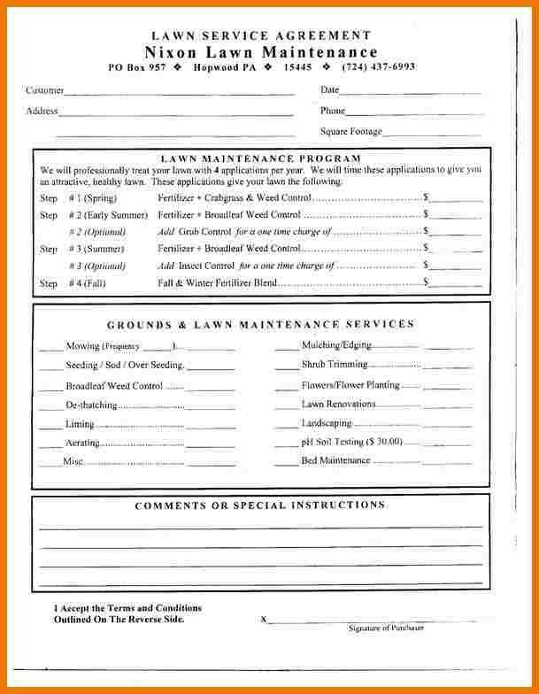 6+ lawn care contract template | assistant cover letter