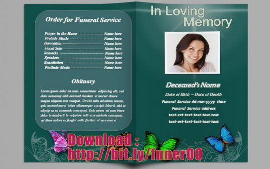 Free Funeral Program Template Microsoft Word -