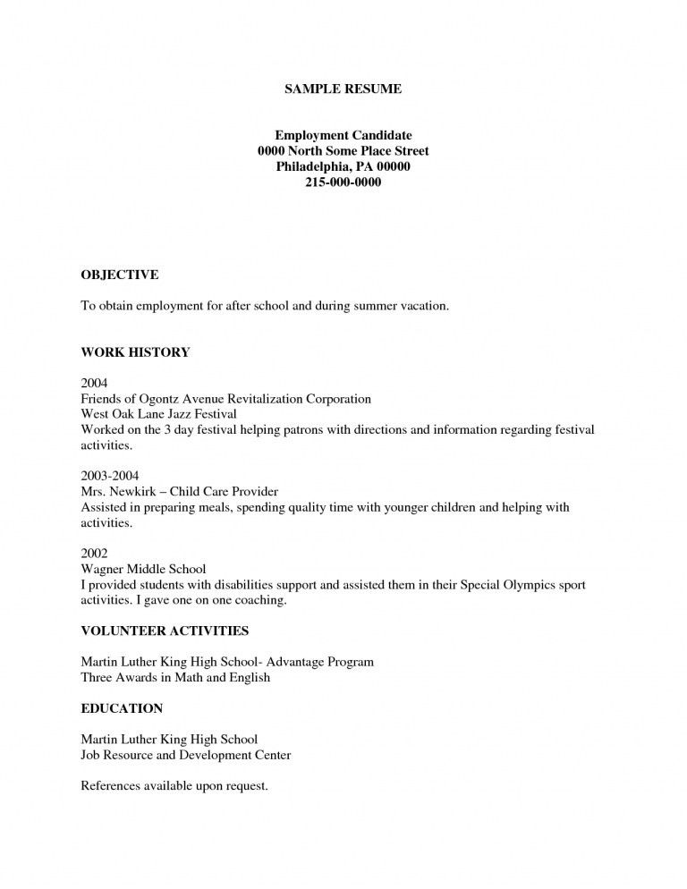Free Printable Resume - gameshacksfree
