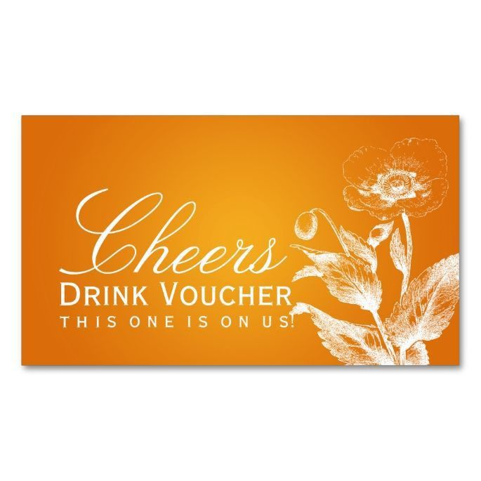 1462 best Voucher Card Templates images on Pinterest | Drink ...