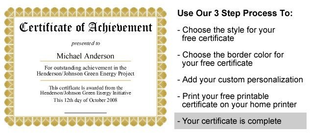 Printable Certificates Templates Free - formats.csat.co