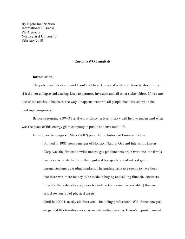 Enron SWOT Analysis