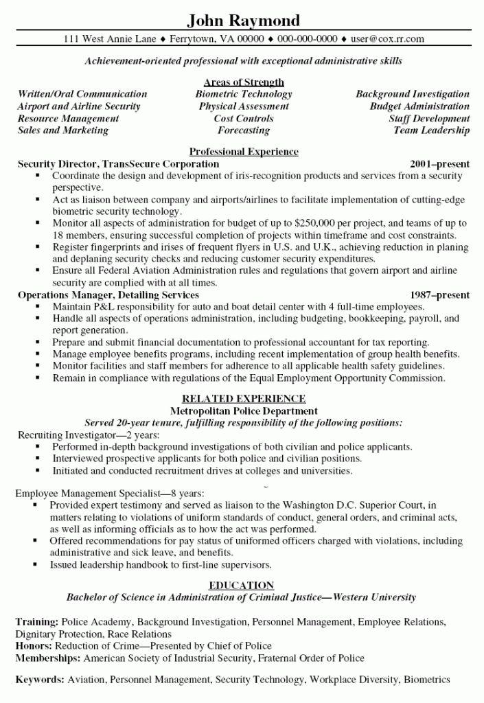 Download Sample Security Manager Resume | haadyaooverbayresort.com