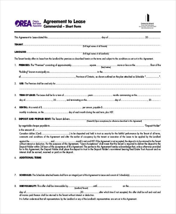 Commercial Lease Form. 8 Best Lease Agreements Images On Pinterest ...