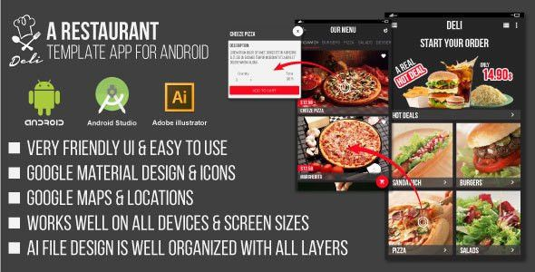Deli - Restaurant UI Template App for Android by mounzeragha ...