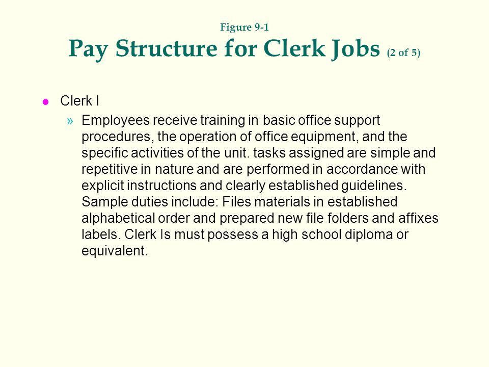 Figure 9-1 Pay Structure for Clerk Jobs (1 of 5) - ppt video ...