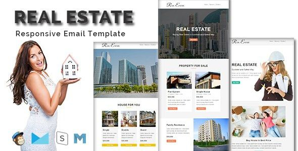 REAL ESTATE - Multipurpose Responsive Email Template With Stamp ...