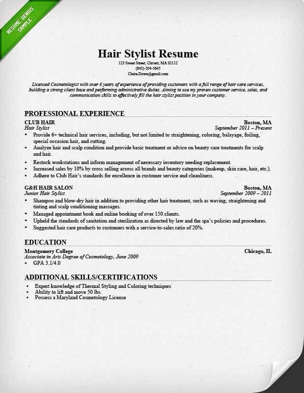 Download Cosmetology Resume Samples | haadyaooverbayresort.com
