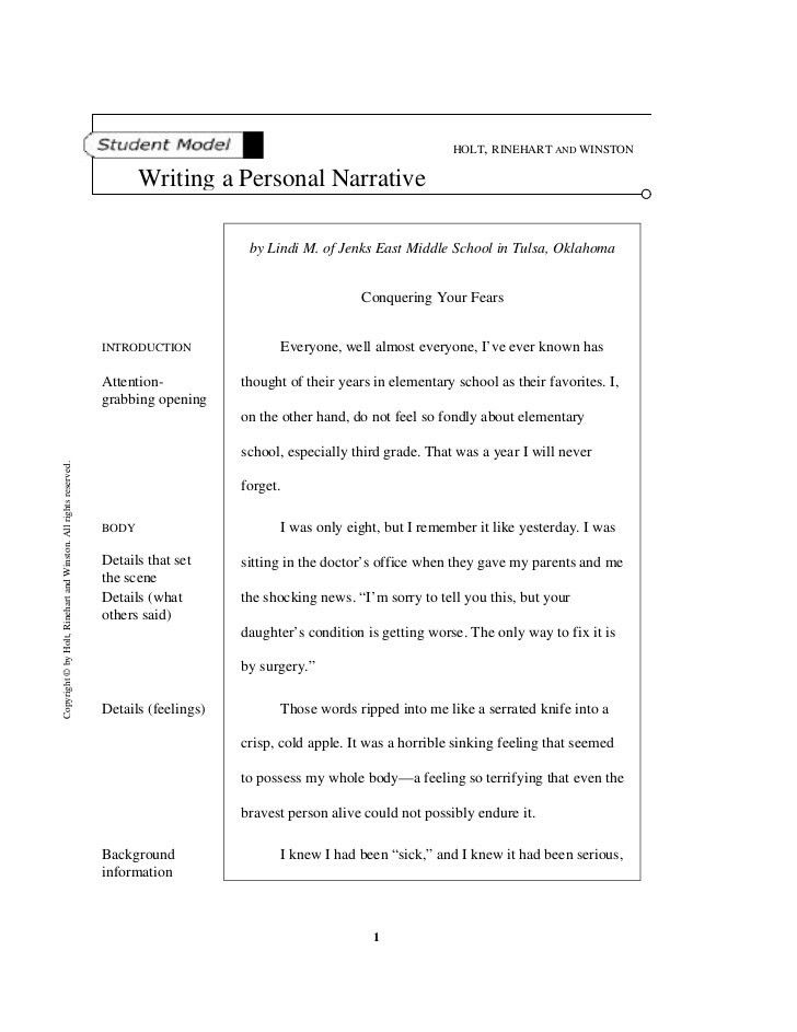 Download Personal Narrative Essay Examples | haadyaooverbayresort.com