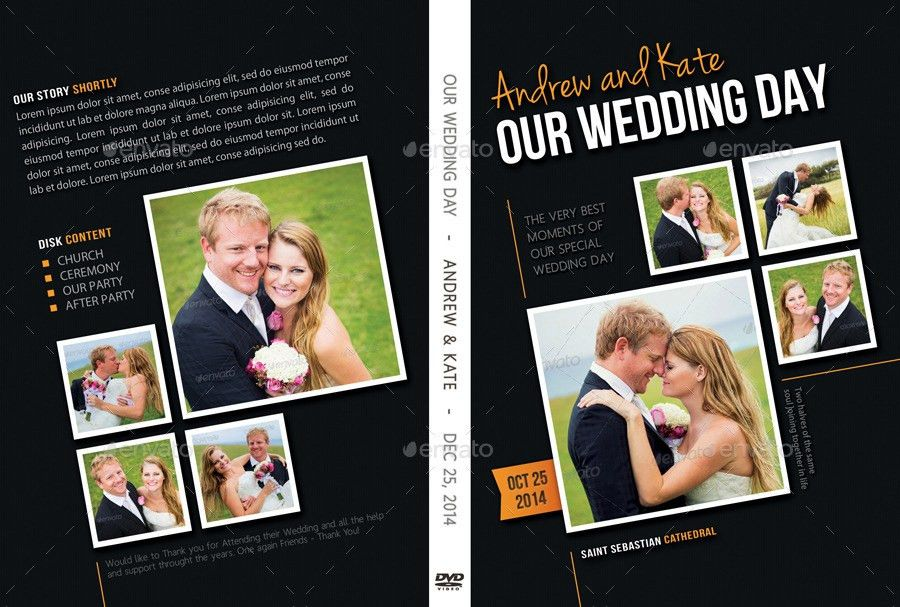Wedding DVD Cover Template 09 by rapidgraf | GraphicRiver