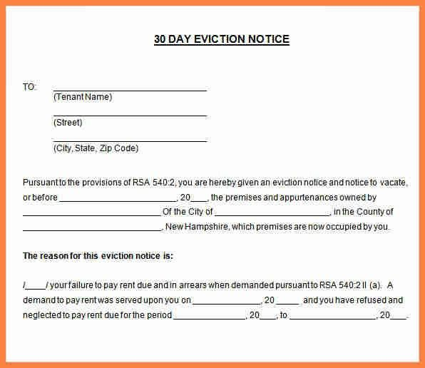 Eviction Notice Letter. Notice To Vacate Letter ...