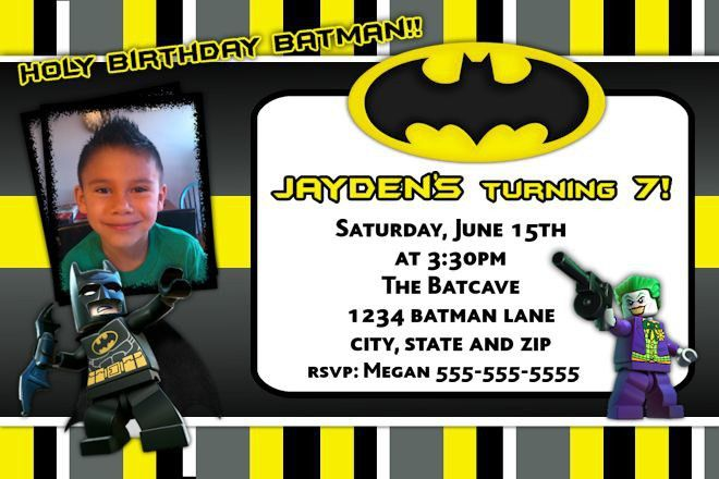 Batman Birthday Invitations | badbrya.com