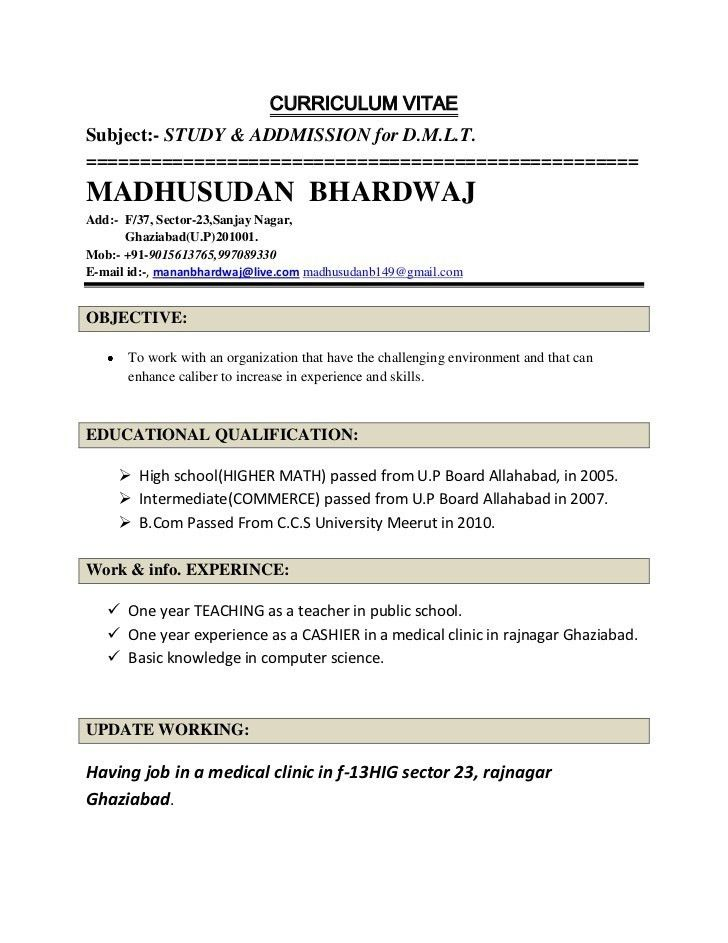 Bunch Ideas of Sample Teacher Resume Indian Schools For Resume ...