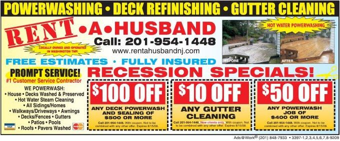 See Our Advertisements - Rent A Husband NJ